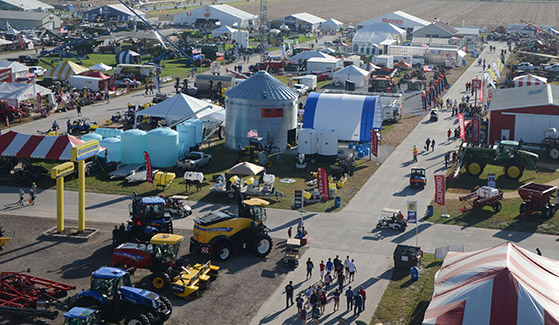 Bird's eye view of Husker Harvest Days